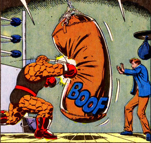 Justice - Marvel Comics - Marvel Boy - With the Thing practicing boxing