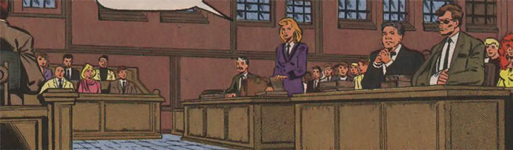 Justice - Marvel Comics - New Warriors- Avengers - Vance Astrovik - In court
