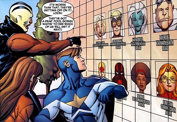 Justice - Marvel Comics - New Warriors- Avengers - Vance Astrovik - NW dead pool