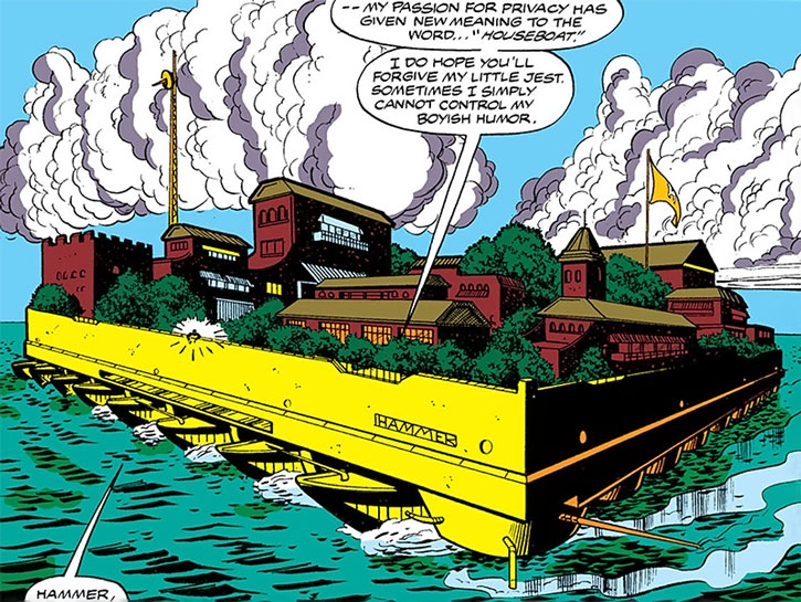 Justin Hammer's iconic floating villa in Iron Man