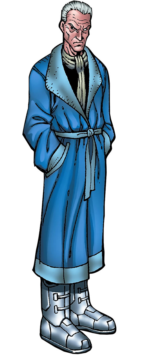 Justin Hammer (Iron Man enemy) (Marvel Comics) in a robe and space boots