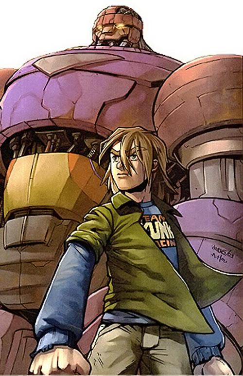 Juston Seyfert (Marvel Comics) and his Sentinel