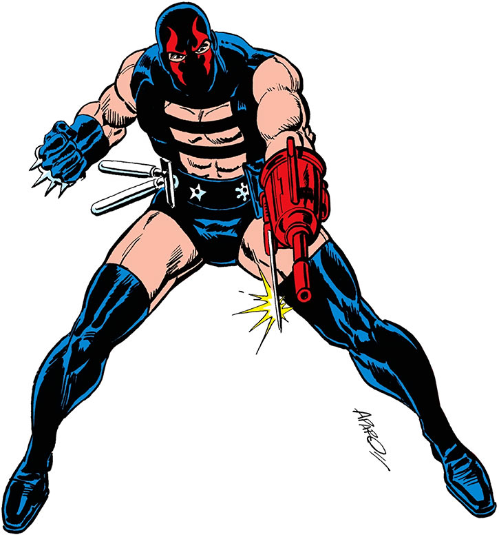 KGBeast with his weapons at the ready