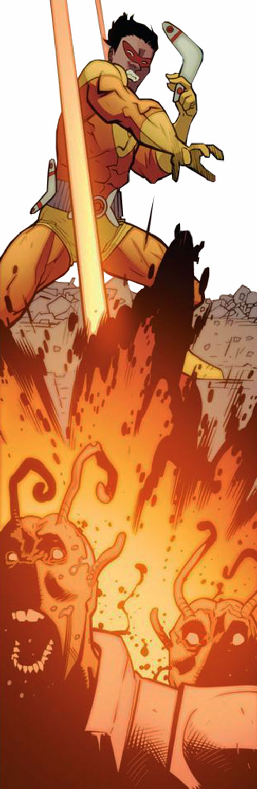 Kaboomerang of the Guardians of the Globe (Image Comics Invincible) explosive boomerangs
