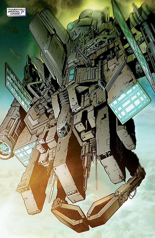 Kaga's ionospheric cruiser / Carrier (X-Men enemy) (Marvel Comics)