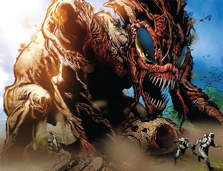 Giant Brood-like creature built by Kaga