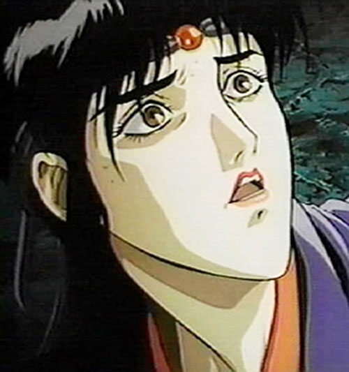 Kagero (Ninja Scroll) surprised face closeup