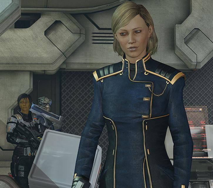 Kahlee Sanders in uniform