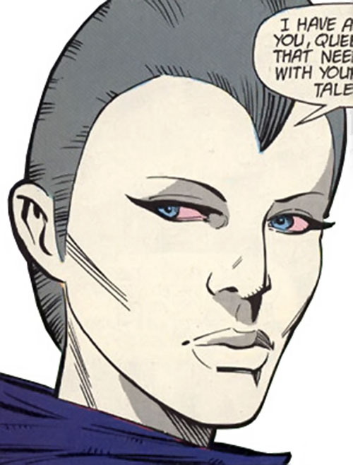 Kaine Salinger of the Outcasts (DC Comics) face closeup