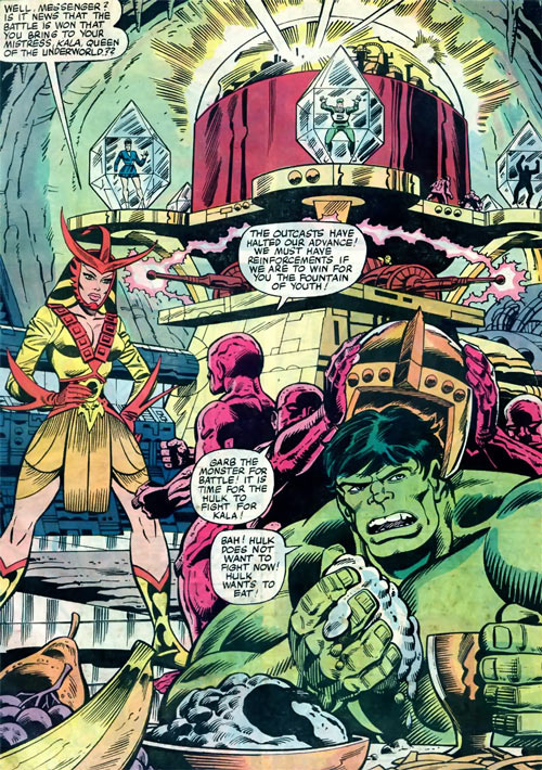 Queen Kala (Marvel Comics Subterranea) - with the Hulk and Lava Men