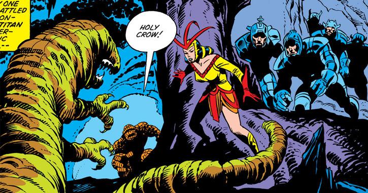 Queen Kala (Marvel Comics Subterranea) - taming an underground monster