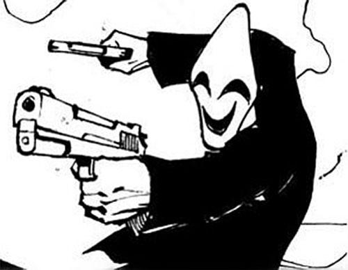 Kambal twin (Trese ally) dual-wielding pistols