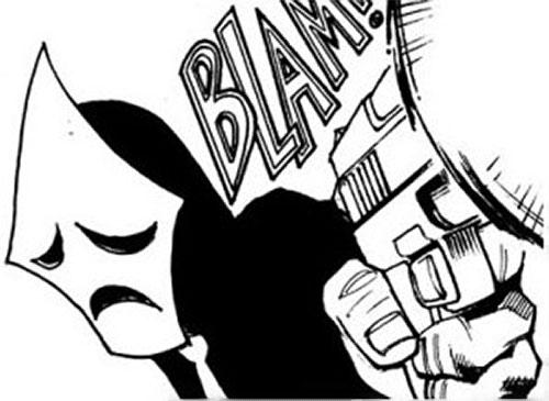 Kambal twin (Trese ally) firing a pistol