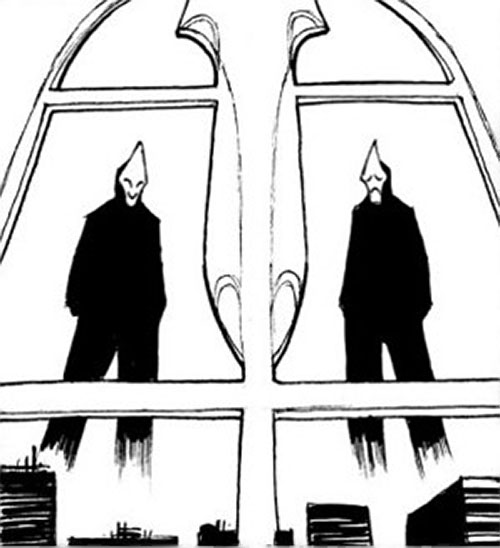 Kambal twins (Trese comics) hovering outside a window