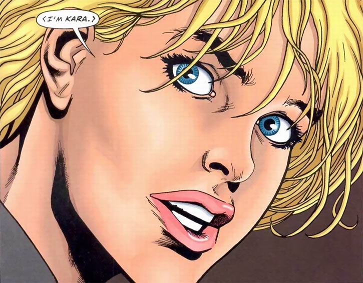 Kara (Superman vs. Aliens comics) face closeup