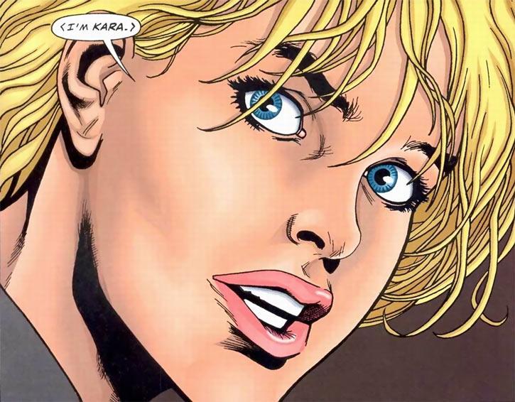 Kara (Superman vs. Aliens comics) face closeup