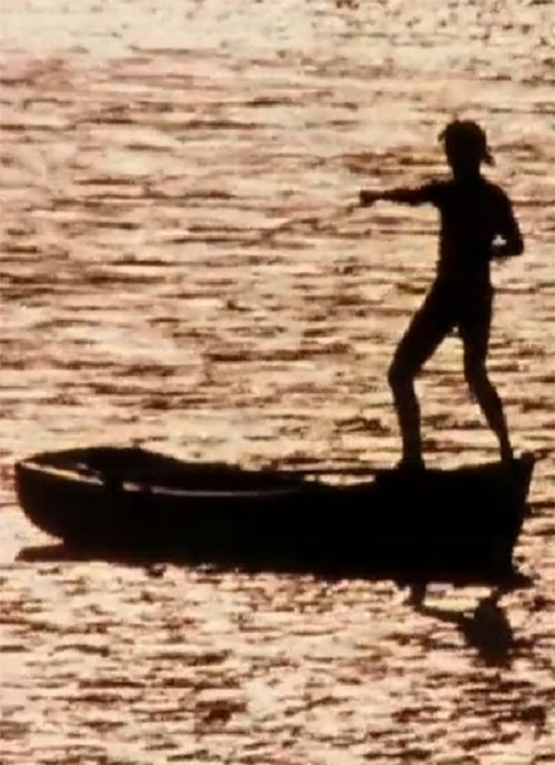 Karate Kid Daniel LaRusso - 1980s movies - Ralph Macchio - training on a small boat