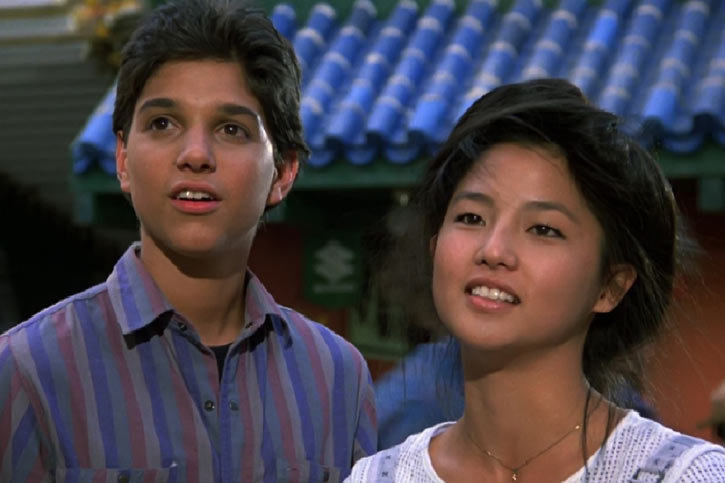 Karate Kid Daniel LaRusso - 1980s movies - Ralph Macchio - with Kumiko