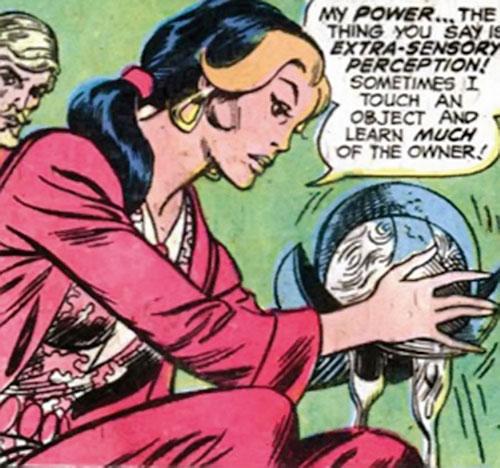 Kari Limbo (Green Lantern character) (DC Comics) holding a conquistador helmet