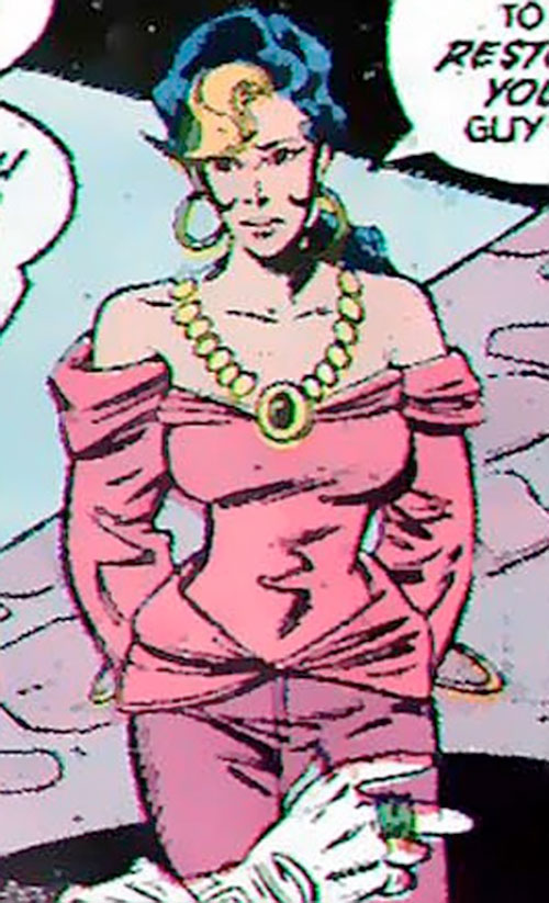 Kari Limbo (Green Lantern character) (DC Comics) with a heavy necklace