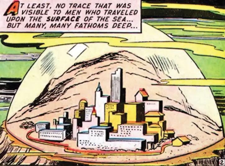 The undersea city of Mu, in Marvel's Namora