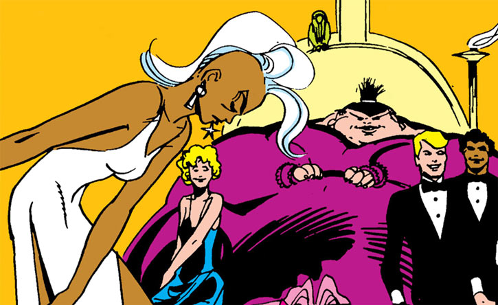 Karma and the New Mutants (Marvel Comics) possessed by the Shadow King, plus Storm