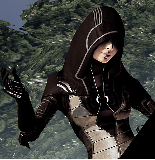 Kasumi Goto (Mass Effect) in dark brown