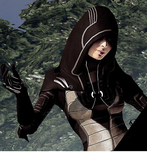 Kasumi Goto (Mass Effect) in dark brown