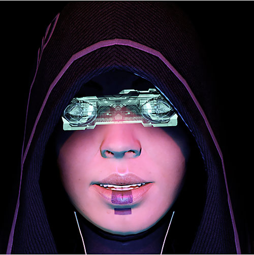 Kasumi Goto (Mass Effect) virtual reality goggles