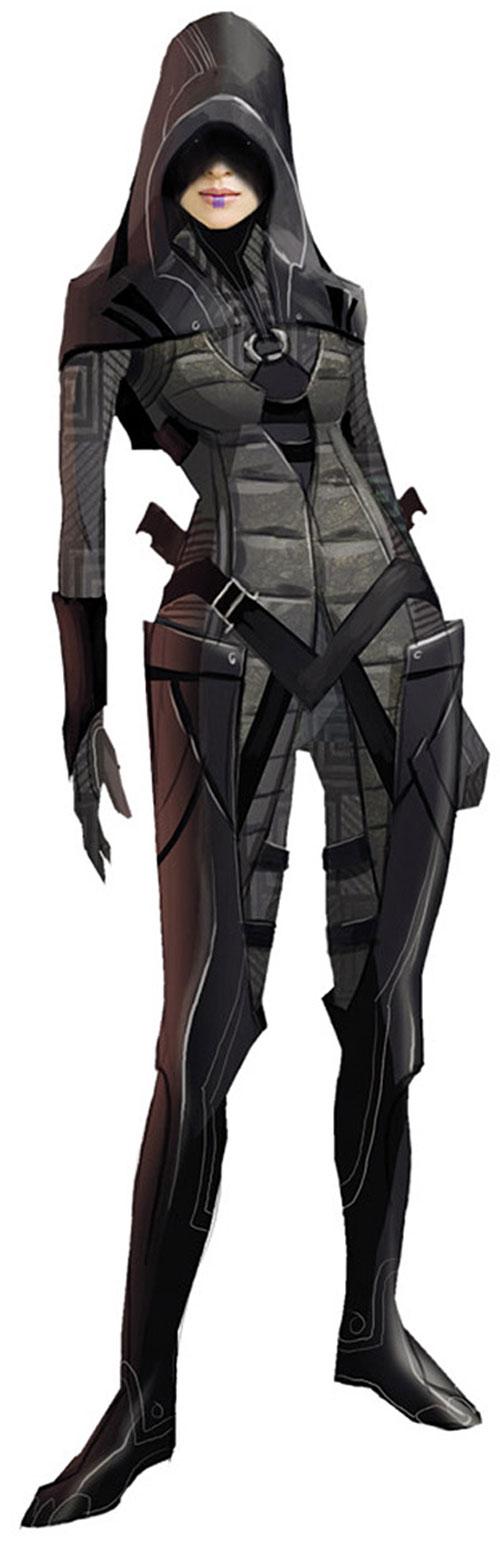 Kasumi Goto (Mass Effect) concept art