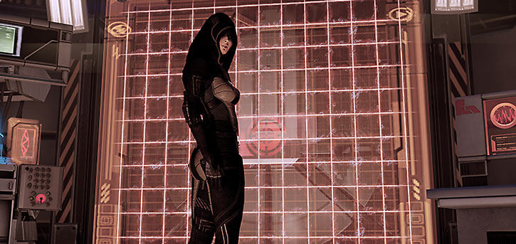 Kasumi Goto stands before a locked vault