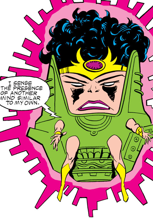 Kate Waynesboro of SHIELD (Hulk character) (Marvel Comics) as a MODOK-like creature