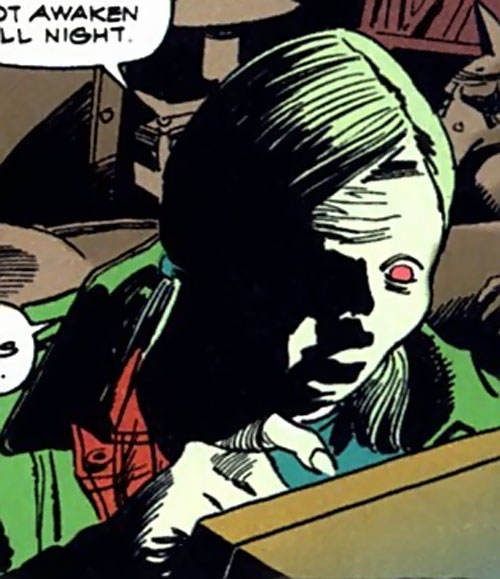 Katinka (Tomb of Dracula) (Marvel Comics) with her eyes glowing red