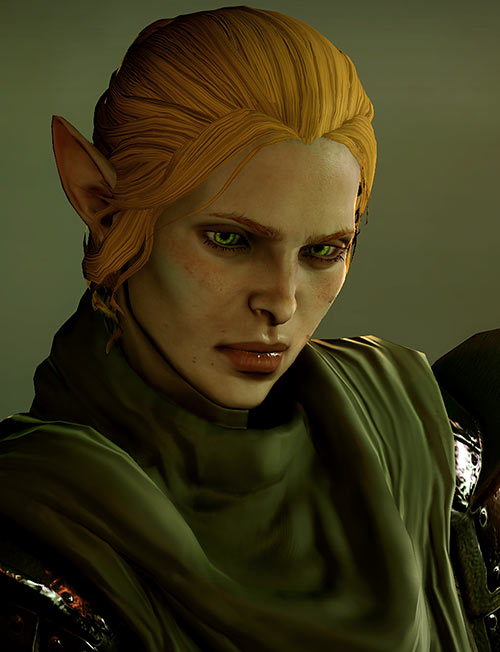 Katriel the elf bard (Dragon Age The Stolen Throne) defiant