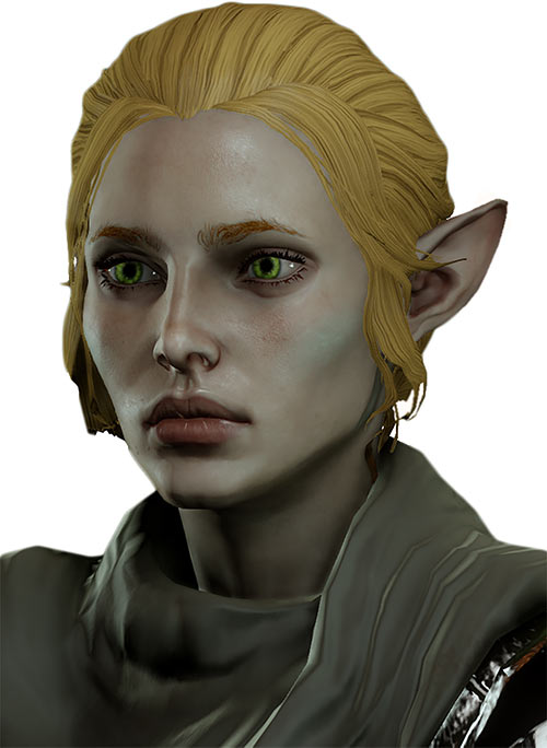 Katriel the elf bard (Dragon Age The Stolen Throne) 3-4 view