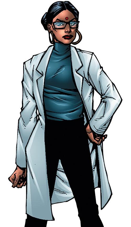 Kavita Rao - Marvel Comics - X-Men ally - Sourcebook art