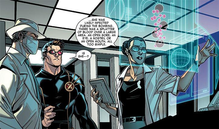 Kavita Rao studies an infection with Dr. Nemesis and Cyclops