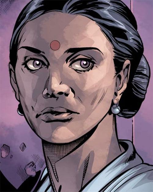 Dr. Kavita Rao of the X-Club (X-Men ally) (Marvel Comics) face closeup