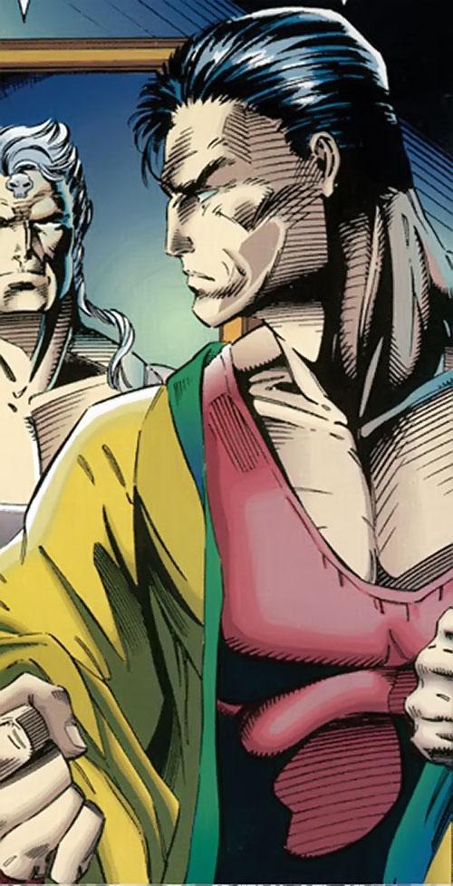 Kayo (Brigade comics) looking angrily at Battlestone