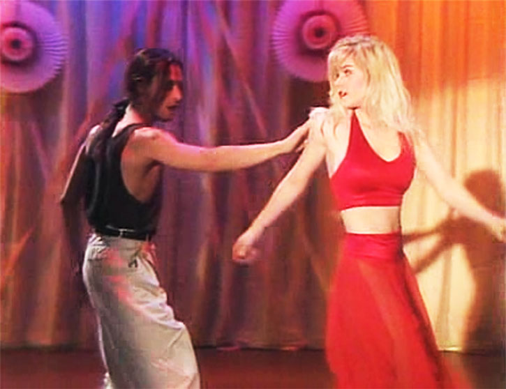 Kelly Bundy (Christina Applegate) in red at a dance
