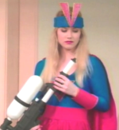 Kelly Bundy (Christina Applegate in Married With Children) superhero costume and splasher