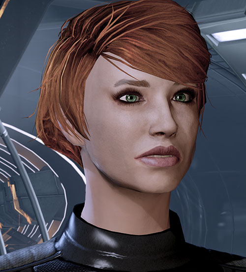 Kelly Chambers (Mass Effect) face closeup