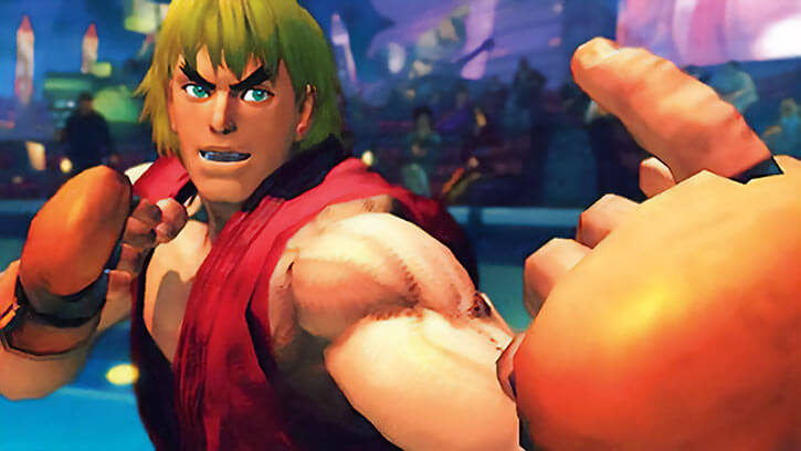 Ken Masters taunting his opponent