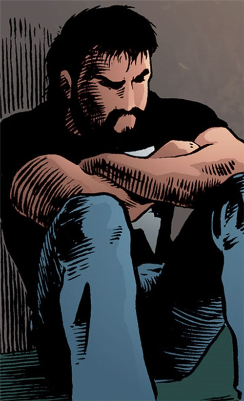 Kevin Matchstick (Matt Wagner's Mage Hero Discovered) sitting and brooding