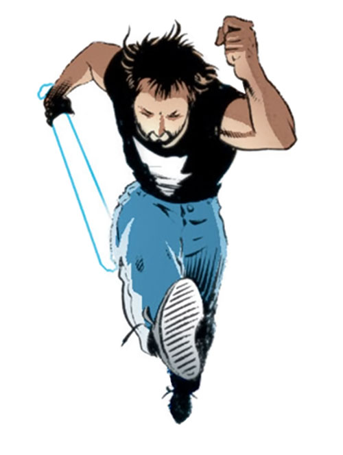 Kevin Matchstick (Matt Wagner's Mage Hero Discovered) running and leaping