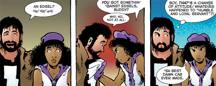 Kevin Matchstick (Matt Wagner's Mage Hero Discovered) arguing with Edsel