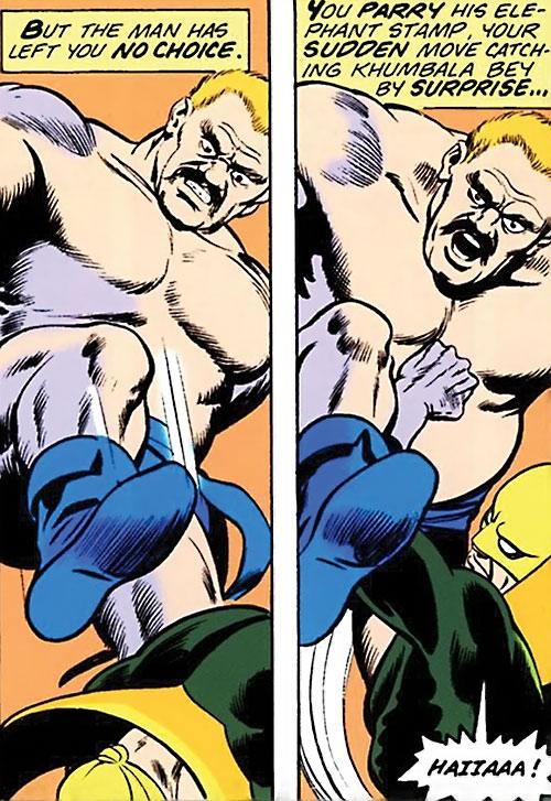 Khumbala Bey (Marvel Comics) vs. Iron Fist