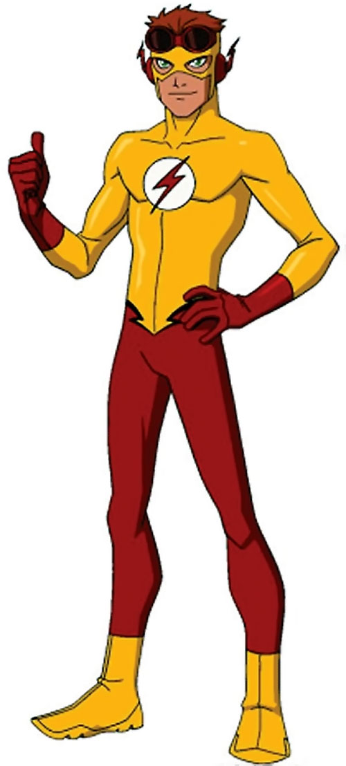 Kid Flash of Young Justice (Cartoon series) with his thumb up