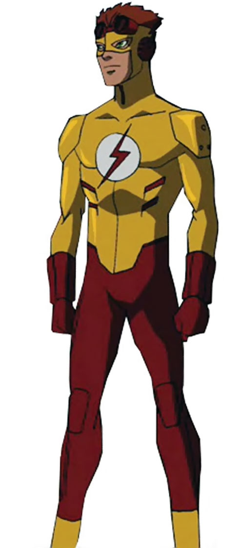 Kid Flash of Young Justice (Cartoon series) standing