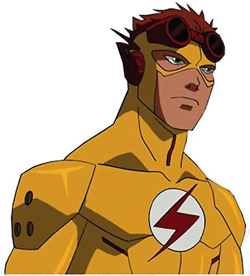 Kid Flash of Young Justice (Cartoon series) costume with armored shoulders